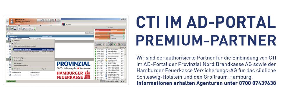 Premium-Partner für CTI-Integration im AD-Portal der Provinzial Nord Brandkasse AG und Hamburger Feuerkasse Versicherungs-AG